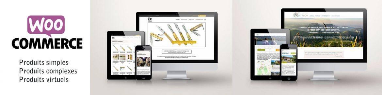 2 exemples de sites réalisés avec woocommerce